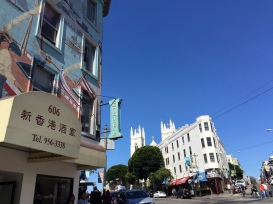 Chinatown and North Beach meet on Columbus and Broadway