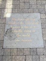 John Steinbeck quote in Jack Kerouac alley in North Beach San Francisco