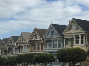 The famous 'Painted Ladies' on Alamo Square
