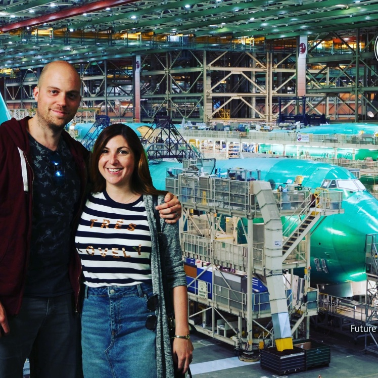 Visiting the Boeing factory